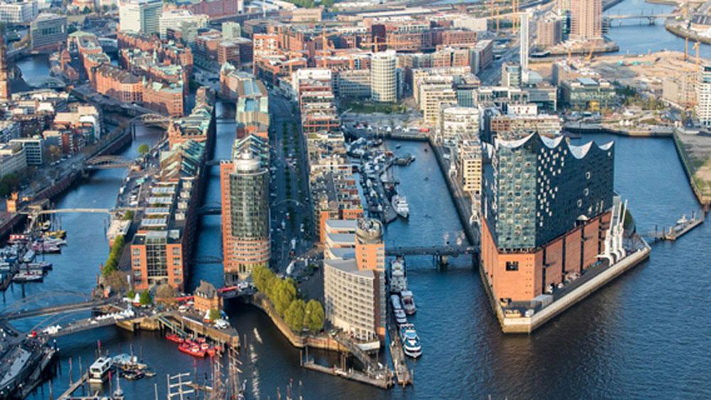 Übersicht über die Hafen-City